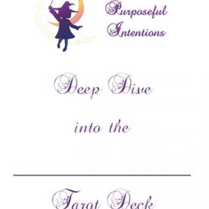 Deep Dive into Tarot Deck Journal cover